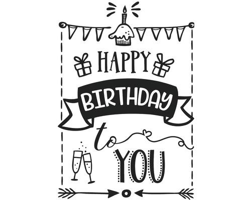 "Stempel ""Happy Birthday"", 7x10cm"