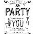 """Stempel """"PARTY"""", 8x10cm"""
