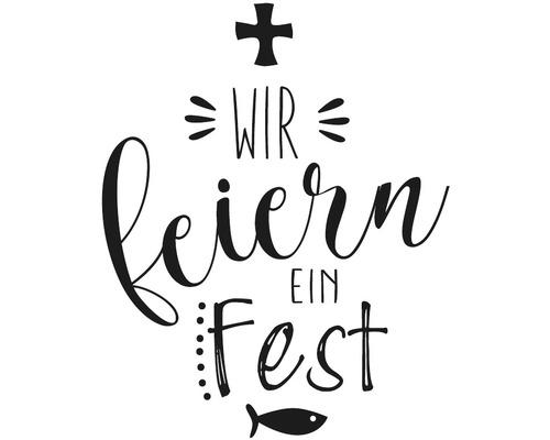 "Stempel ""WIR feiern ein Fest"", 6x7cm"