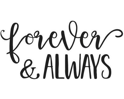 """Stempel """"Forever & Always"""", 12x6cm"""