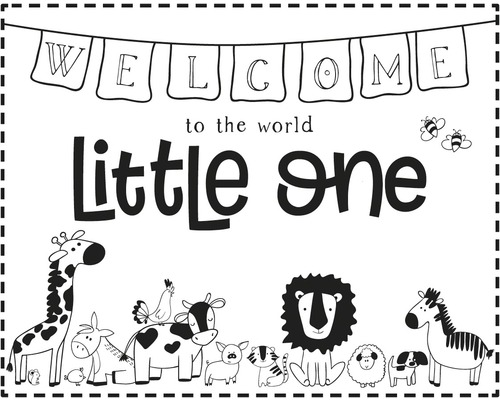 """Stempel """"Welcome Little one"""", 10x8cm"""