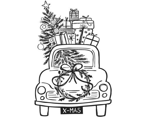 "Stempel ""Driving Home For Christmas"""