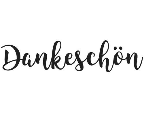 """Stempel """"Dankeschön"""", 3x8cm"""