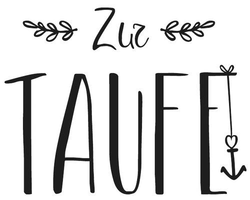 "Stempel ""Zur Taufe"", 5x6cm"