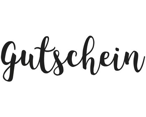 """Stempel """"Gutschein"""", 3x8cm"""