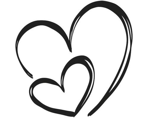 Stempel Herzen, 5x5cm
