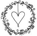 Stempel Hochzeitskranz, 5x5cm