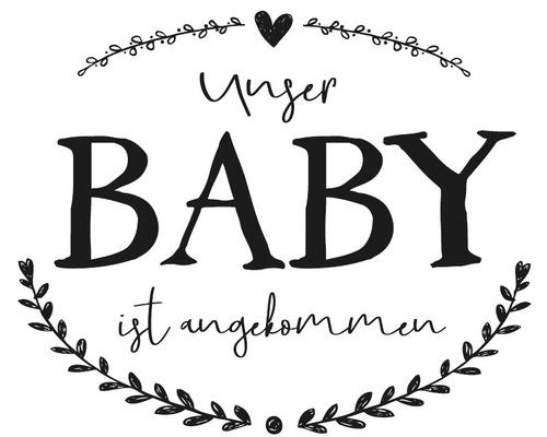 """Stempel """"Unser Baby ist angekommen"""""""