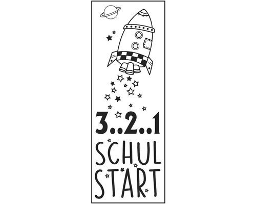 "Stempel ""3..2..1 Schulstart"", 4x10cm"