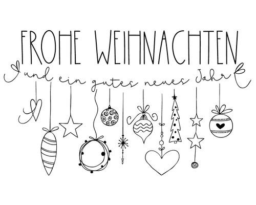 """Stempel """"Frohe Weihnachten"""" - Girlande"""