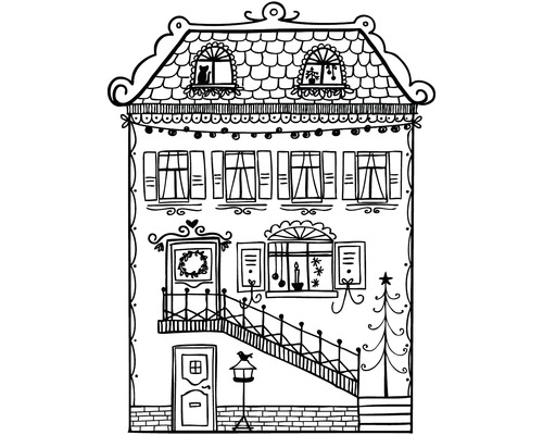 "Stempel ""Home sweet home"", 8x10cm"