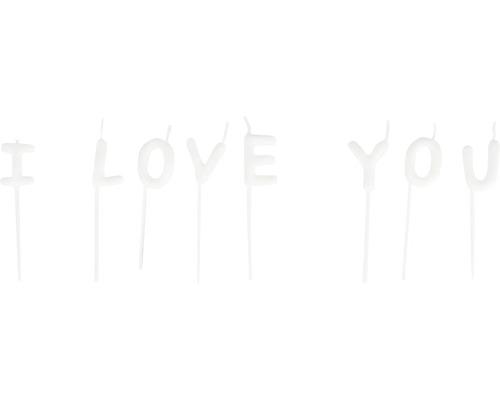"Kerzensticks ""I LOVE YOU"", 8 Buchstaben"