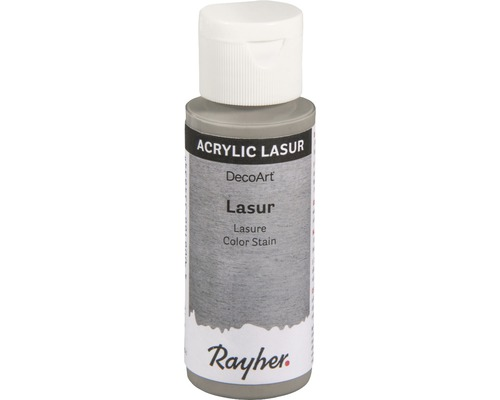 Acryl-Lasur, Effekt, 59ml, steingrau