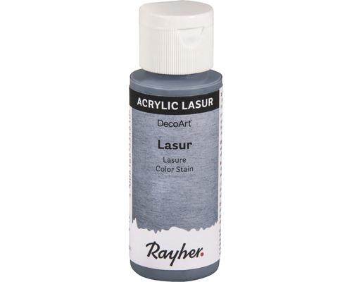 Acryl-Lasur, Effekt, 59ml, blaugrau