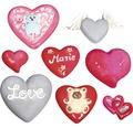 Gießform: Herzen, 8 Motive