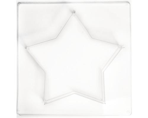 Gießform: Stern mittel, 21,5x21,5cm