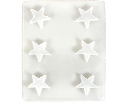 Gießform: Sterne, 3,6cm ø, 6 Herzen