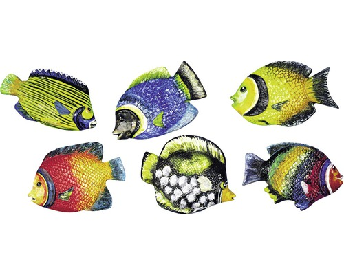 Gießform: Fische, 9cm, 6 Motive