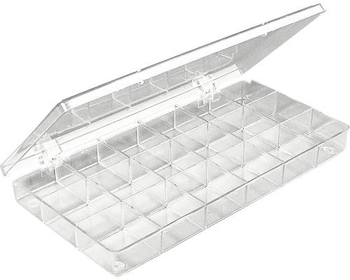 Sortierbox, 18 Fächer, kristall