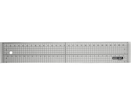 Schneidelineal mit Metallkante, 30cm