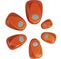 Motivstanzer: Oval mit Zierrand, 2,5x1,8 cm