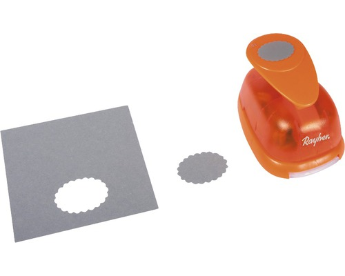 Motivstanzer: Oval mit Zierrand, 3,8x2,7 cm