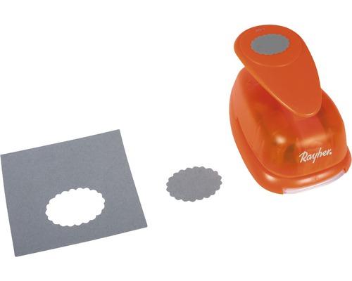 Motivstanzer: Oval mit Zierrand, 4,4 cm ø