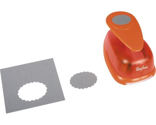 Motivstanzer: Oval mit Zierrand, 5x3,7 cm ø