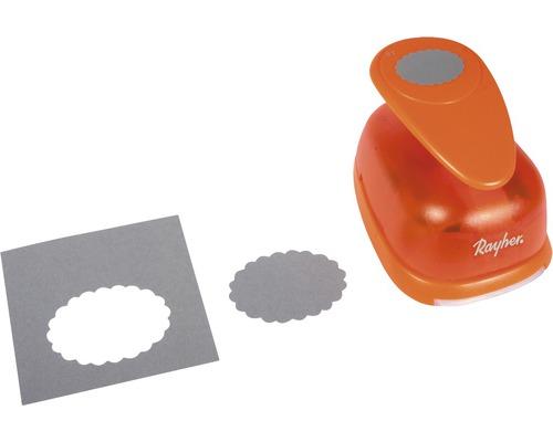 Motivstanzer: Oval mit Zierrand, 6,3x4,5 cm ø