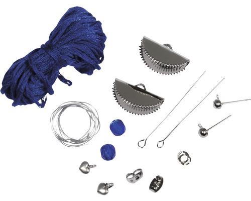 Boho-Ohrringe silber/blau