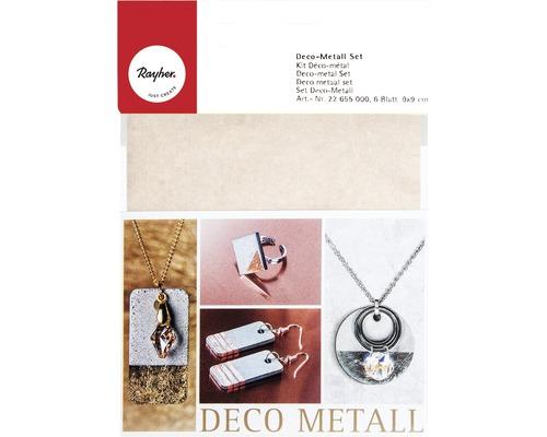 Deco-Metall Set, kupfer/ gold/ silber