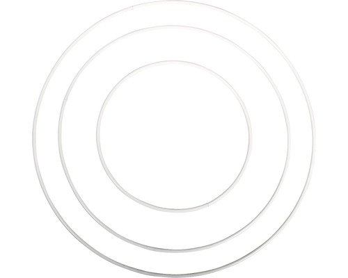 Metallringe, beschichtet, weiß, 12cm