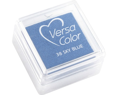 "Stempelkissen ""Versacolor"", himmelblau"