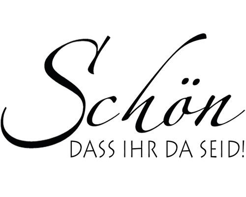 """H.- Stempel """"Schön, dass Ihr"""", 3x5cm"""