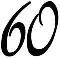 "Stempel ""60"" 3x3cm"