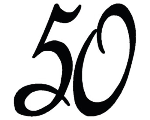 "Stempel ""50"" 3x3cm"