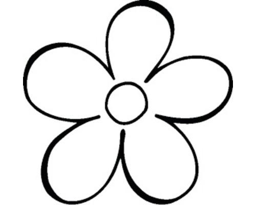 Stempel Blume 3x3cm