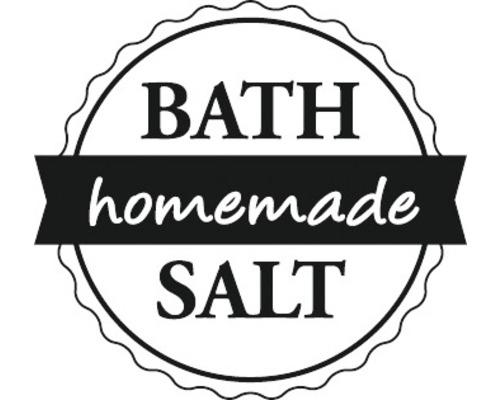 "Stempel ""Bath Salt -homemade-"", 3cm ø"