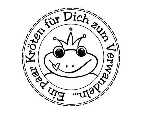 """Stempel """"Kröten zum Verwandeln"""", 3cm ø"""