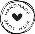 "Stempel ""Handmade with love"", 3cm ø"