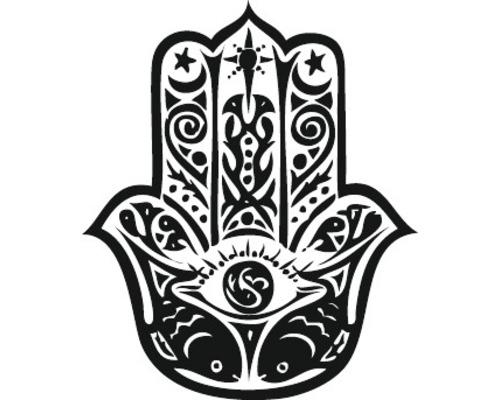 """Stempel """"Hamsa Hand"""", 3cm ø"""