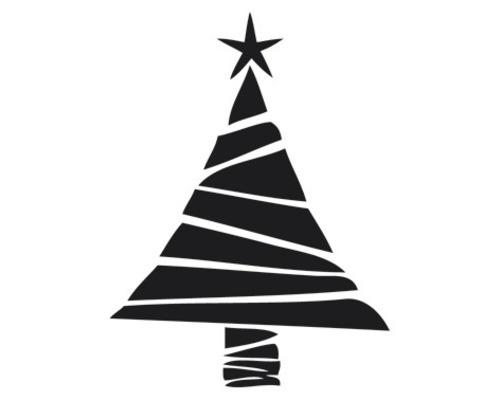 Stempel Weihnachtsbaum, 3cm ø