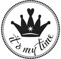 "Stempel ""it´s my time"", 3cm ø"