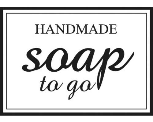 """Stempel """"Handmade - soap to go"""", 3x4cm"""