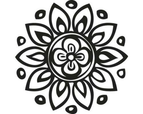 Stempel Blumenmandala, 3cm ø