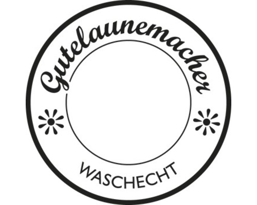 """Stempel """"Gutelaunemacher ..."""", 3cm ø"""