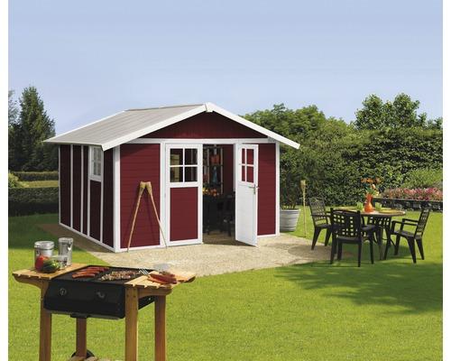 Gartenhaus Grosfillex Deco H 11 x L 315 x 355,5 cm rot-weiß