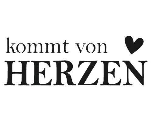 """Statement-Stempel """"Kommt von Herzen"""" 1,5x4cm"""