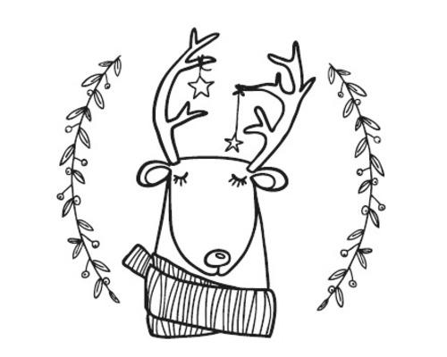 Stempel Rentier Lasse, 3cm ø