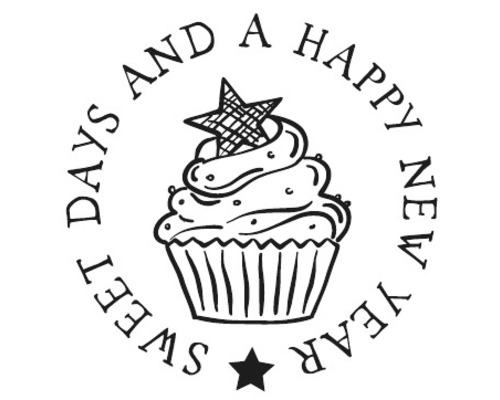 "Stempel ""Cupcake New Year"", 3cm ø"